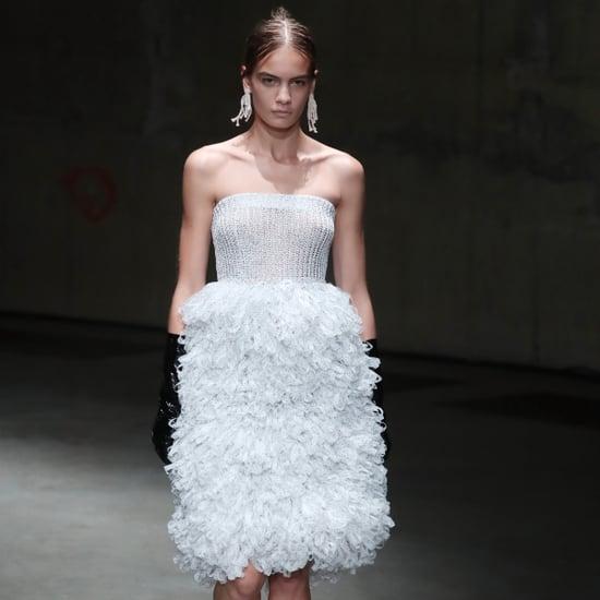 Model Nina Marker at Fashion Week