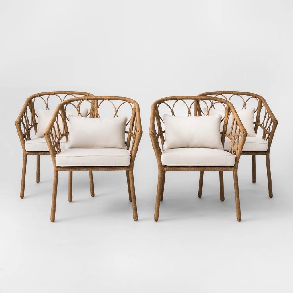 Britanna 4-Pack Wicker Patio Dining Chair