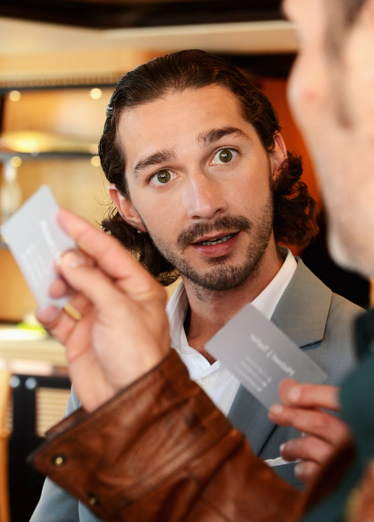 Shia LaBeouf arrived in Cannes and took part in French TV show called Le Grand Journal.