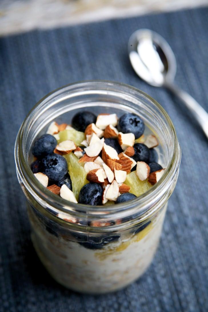 Flat Belly Overnight >> Flat-Belly Overnight Oats | Low-Sugar Breakfast Ideas With Under 30 Grams | POPSUGAR Fitness ...