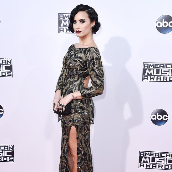 Demi Lovato on the 2015 American Music Awards Red Carpet