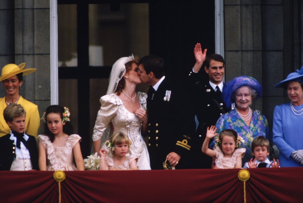 Prince Andrew and Sarah Ferguson similarly delighted the crowds five years later.