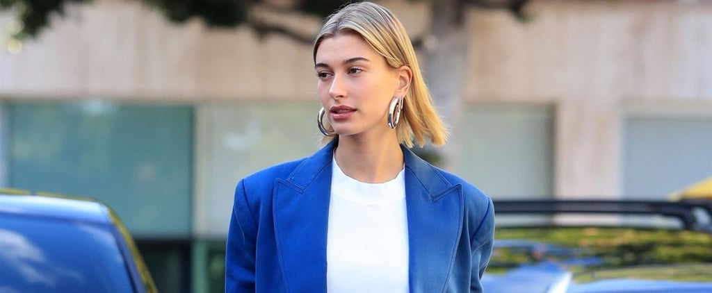 Hailey Baldwin Blue Yeezy Boots
