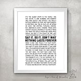 Nothing Lasts Forever Poster Print