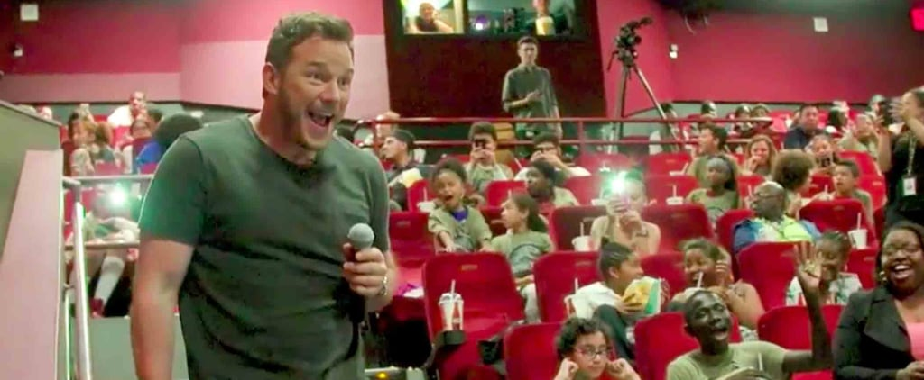 Chris Pratt Surprises Kids at Jurassic World