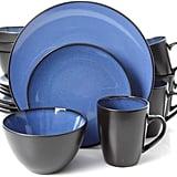 Gibson Home 16-Piece Reactive Stoneware Soho Round Dinnerware Set