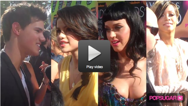 Exclusive Video of Taylor, Selena's Twilight Love, Katy Perry and Rihanna Talking Weddings on Kids' Choice Awards Red Carpet!