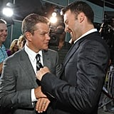 Good buddy Ben Affleck couldn't miss out on the fun at Matt Damon's LA premiere of the Bourne Ultimatum in July 2007.
