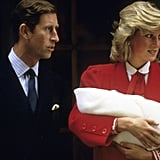 Prince Charles and Princess Diana With Prince Harry