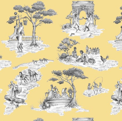 Guess Who Designed This Toile Wallpaper?