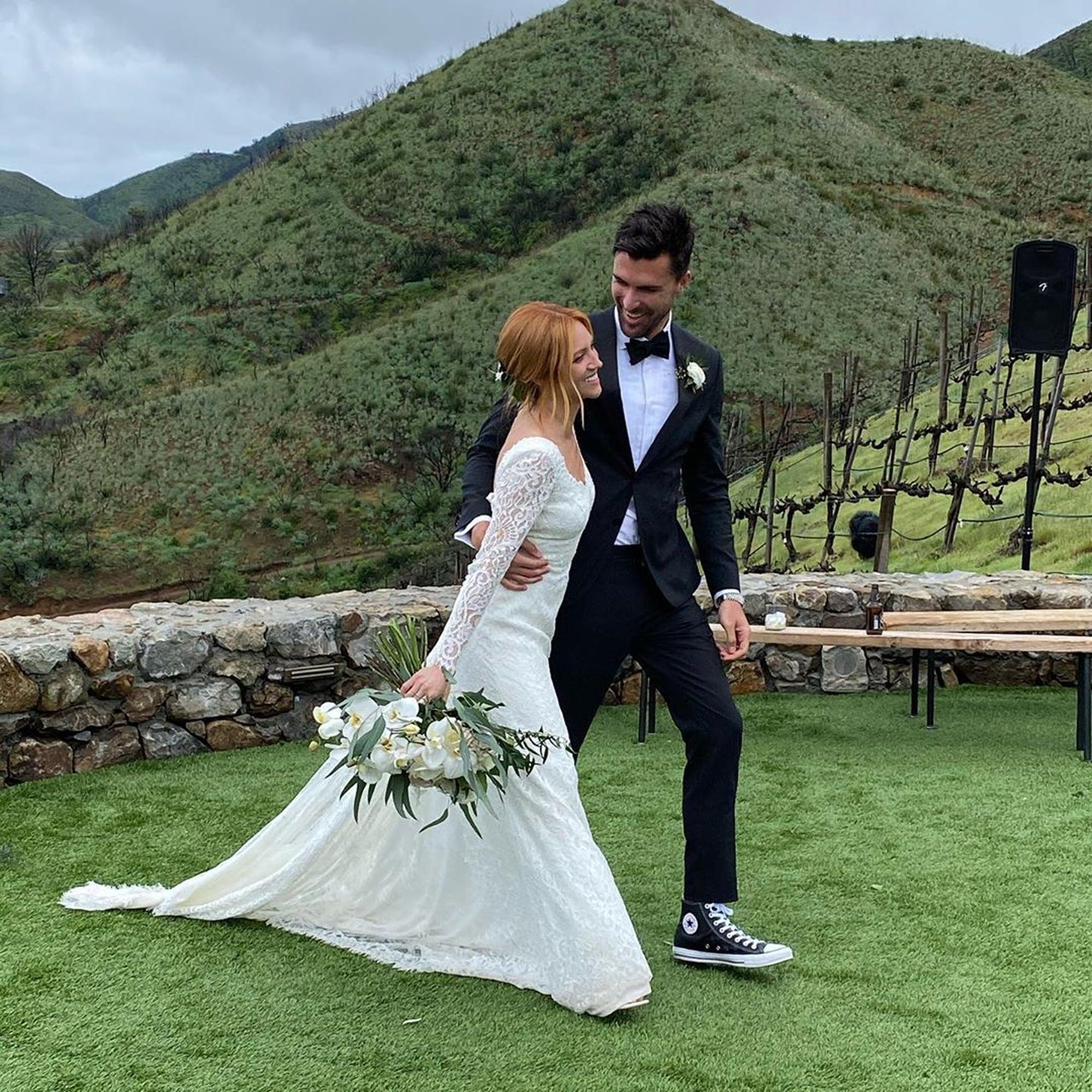 Brittany Snow Wore a Jonathan Simkhai Wedding Dress   POPSUGAR Fashion