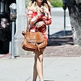 Lauren Conrad sported a tie-dyed dress.