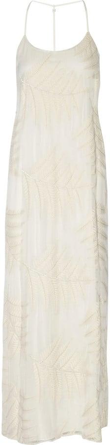 Alice + Olivia Kelly embroidered silk-chiffon maxi dress ($598)