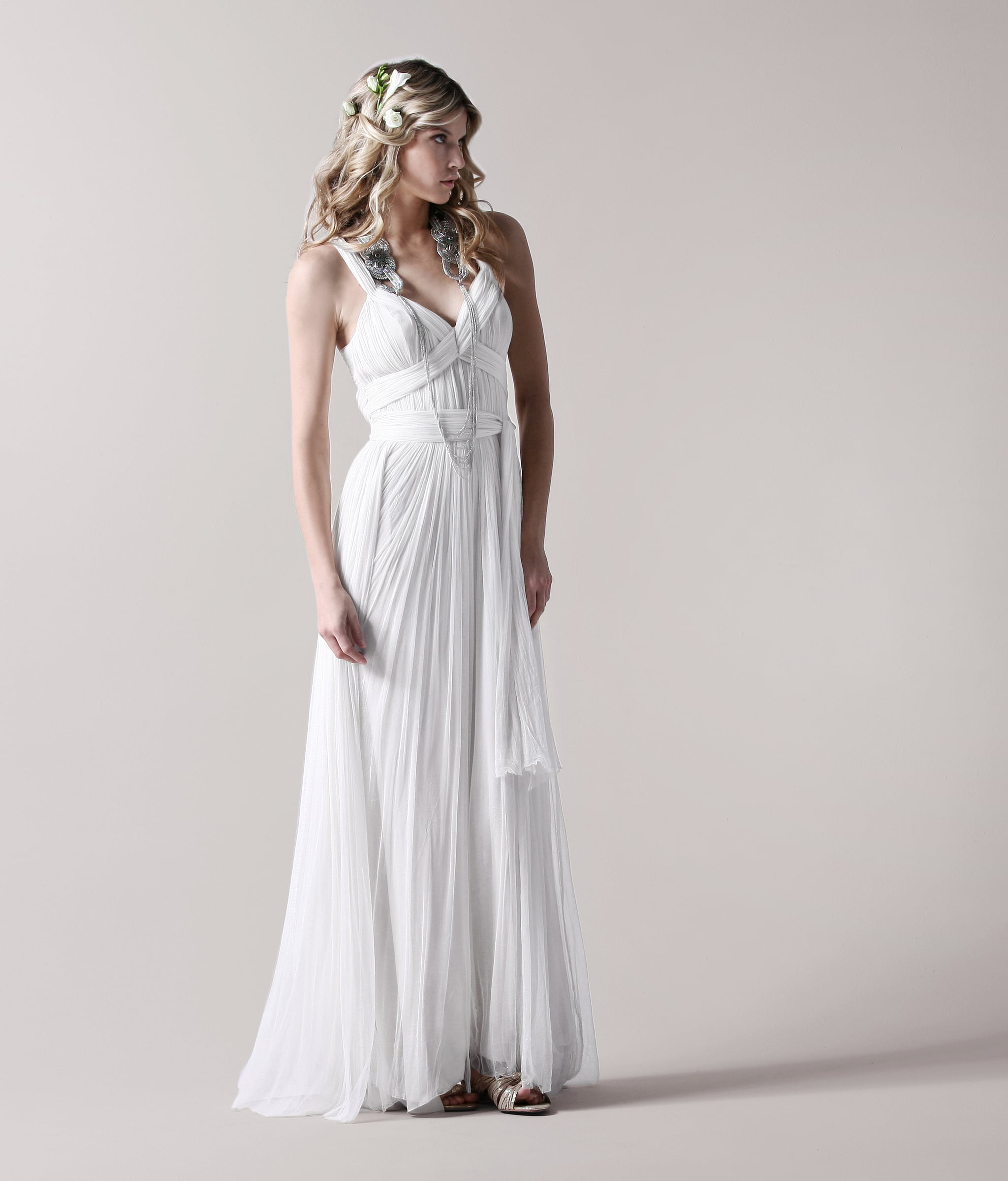 Christina gathered gown, approx $1705, Catherine Deane.