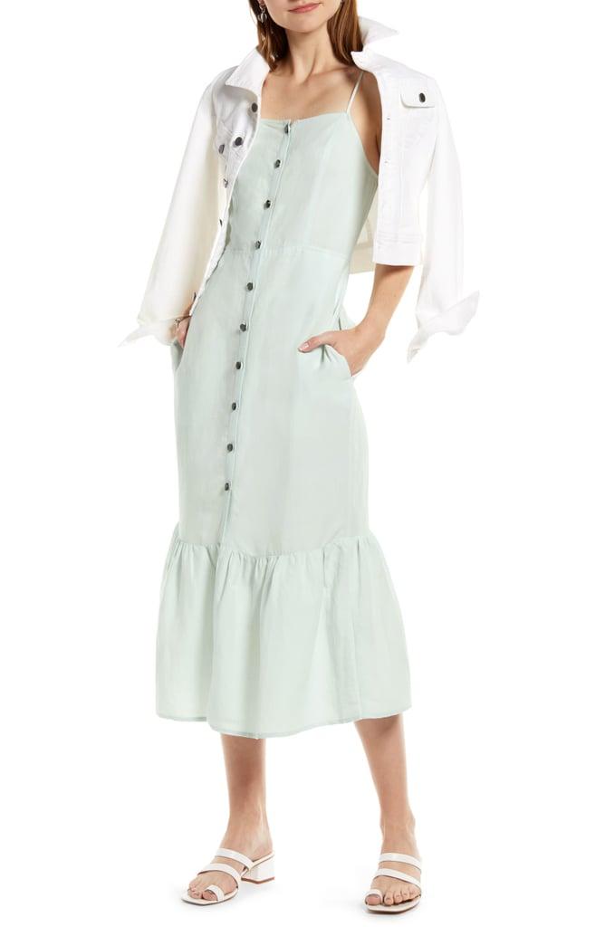 5bda51428 Something Navy Button-Up Midi Sundress   Best Dresses Under $100 ...
