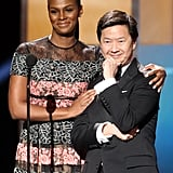 Pictured: Tika Sumpter and Ken Jeong