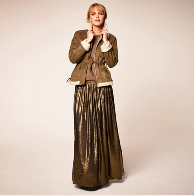 This copper-colored maxi will look amazing for a night out.  La Redoute Flared Skirt ($42)