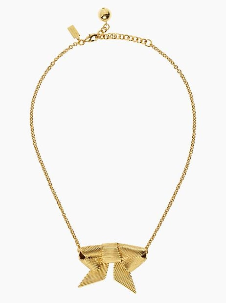 Kate Spade New York All Wrapped Up Small Gold Bow Necklace ($25, originally $95)