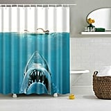 Waterproof Jaws Bath Shower Curtain