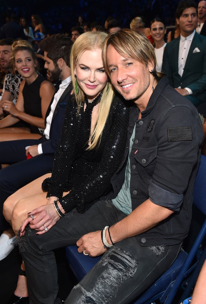 "Nicole Kidman was on hand to support husband Keith Urban at the CMT Music Awards in Nashville on Wednesday evening. The couple — who will be celebrating their 10-year wedding anniversary later this month — flashed sweet smiles upon their arrival and even stopped to take a few photos with fans. Inside, the couple mingled with a slew of country stars, including Luke Bryan and Tim McGraw, and Keith took the stage alongside Brett Eldredge and Maren Morris for a special performance of his new single, ""Wasted Time."" Just a few days prior, the duo stepped out at the NYC premiere for Genius looking like their usual lovey-dovey selves."
