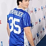 Ian Somerhalder smirked for cameras on the blue carpet at DIRECTV's 7th Annual Celebrity Beach Bowl on Saturday during the 2013 Super Bowl weekend.