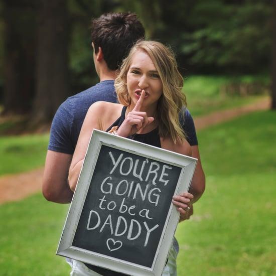 Surprise Chalkboard Pregnancy Announcement
