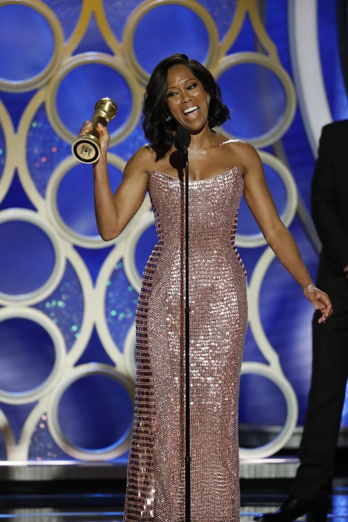 Taking the stage at the 2019 ceremony, Regina King happily accepted the award for best supporting actress in a motion picture for her work in If Beale Street Could Talk.