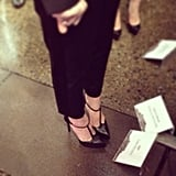 Can you guess whose Saint Laurent-covered feet these are? Only the star of Gatsby, Carey Mulligan!