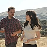 Jake Johnson as Nick and Zooey Deschanel as Jess on New Girl. Photo courtesy of Fox