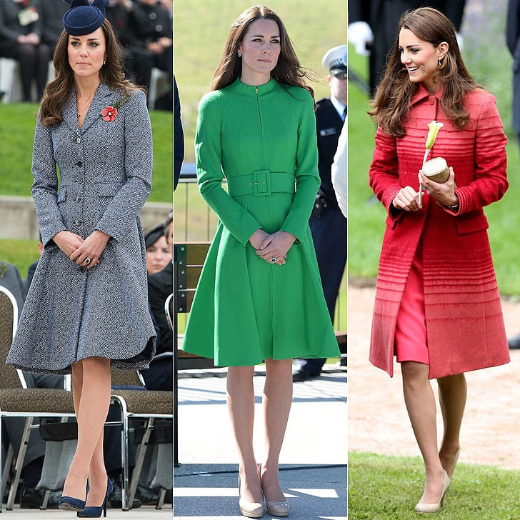 Kate Middleton Style, Kate Middleton Wearing Colourful Coats