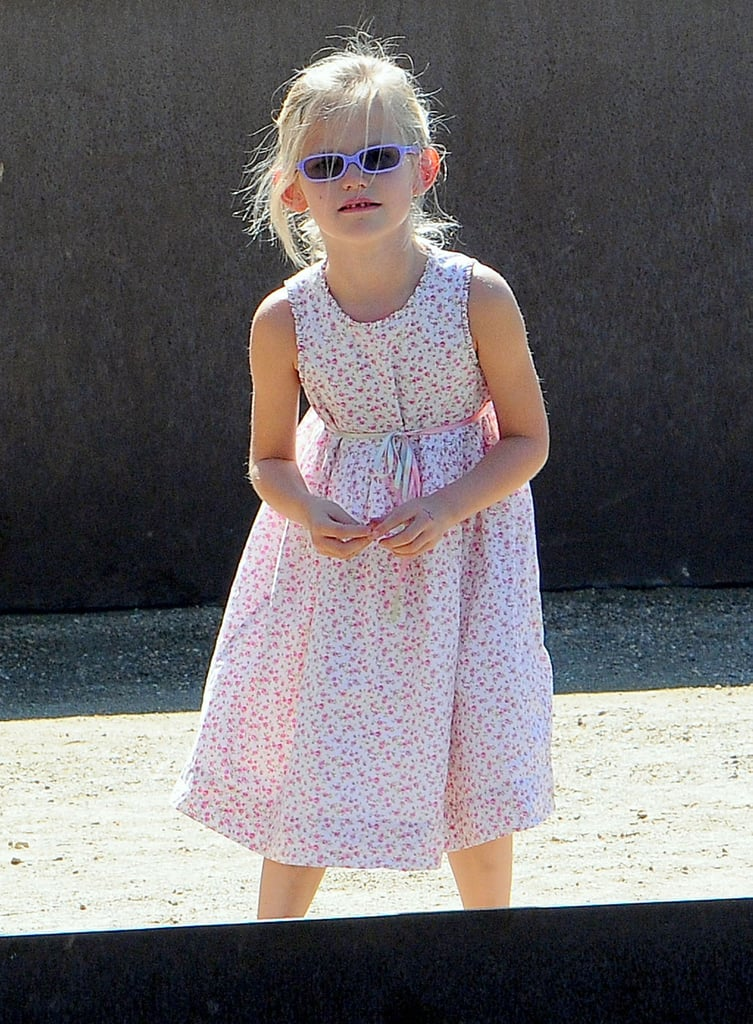 Violet Affleck wore sunglasses in LA.
