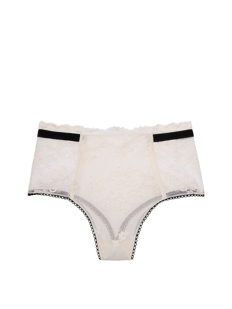 Floral Lace High-waist Thong