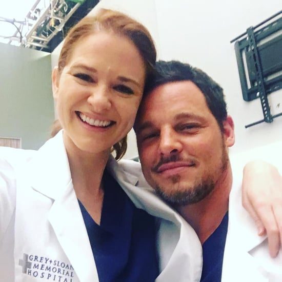 Sarah Drew Grey's Anatomy Instagram With Justin Chambers