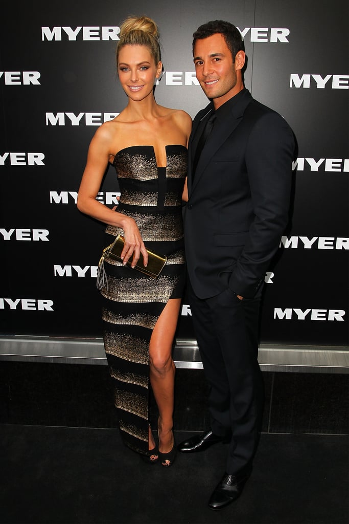 Jennifer showed some leg at Myer's Autumn/Winter 2003 collection launch in Melbourne in Feb. 2013.
