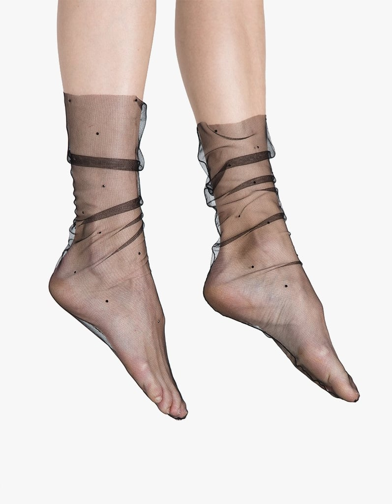 Pan & The Dream Tulle Socks with Swarovki Crystals