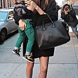 Miranda Kerr carried a black Givenchy bag while out in NYC.