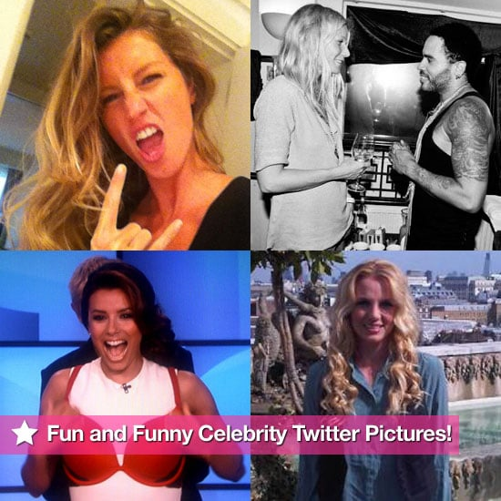 Britney Spears, Gwyneth Paltrow, Eva Longoria, and More in This Week's Fun and Funny Celebrity Twitter Pictures!