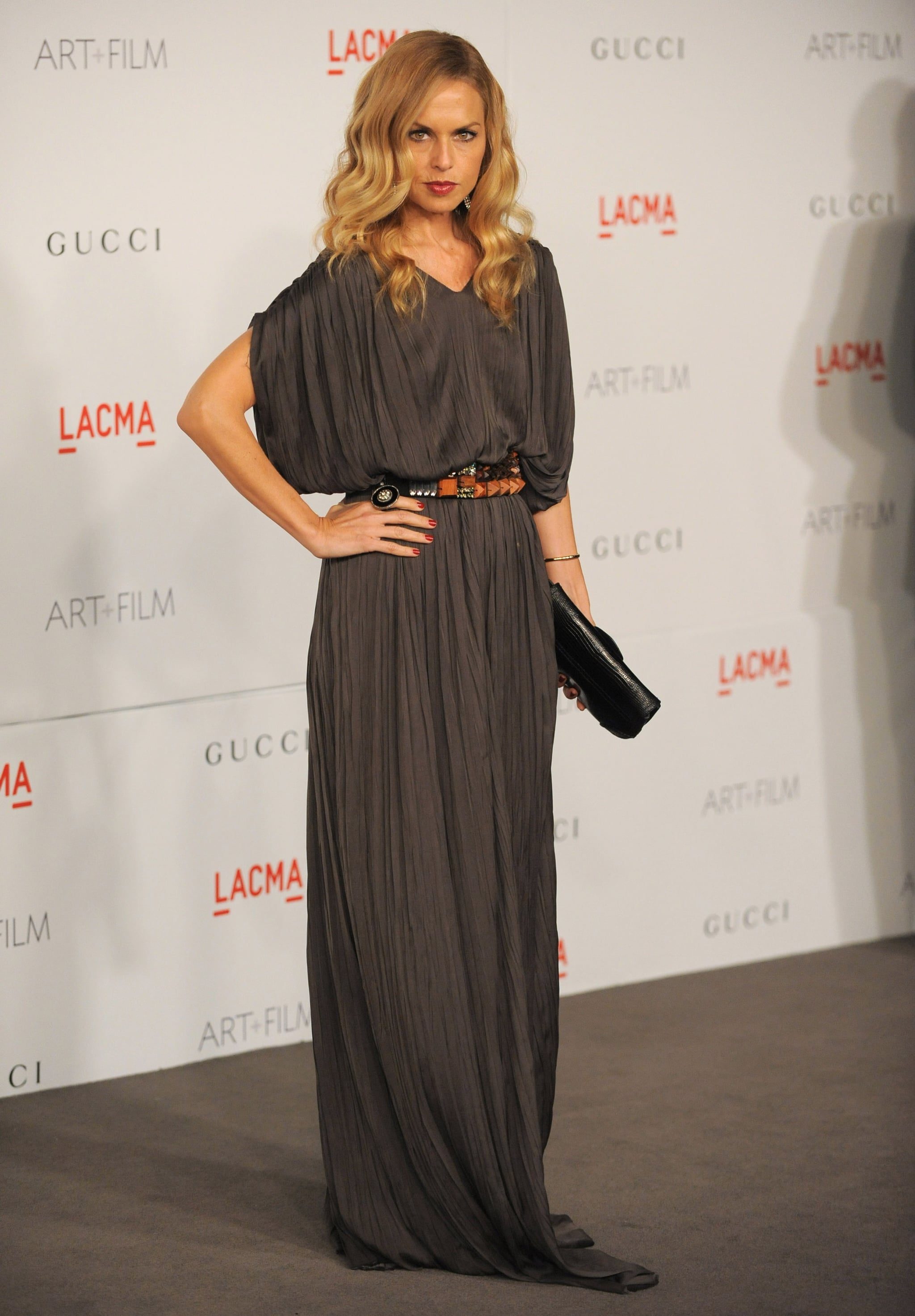 Rachel Zoe on the LACMA gray carpet.