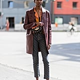 Pair a Structured Leather Jacket With Pumps
