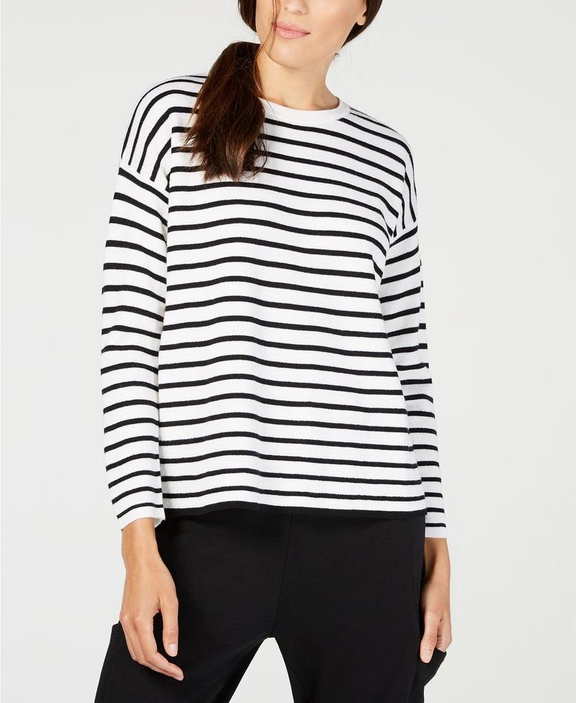 Eileen Fisher Merino Wool Striped Sweater