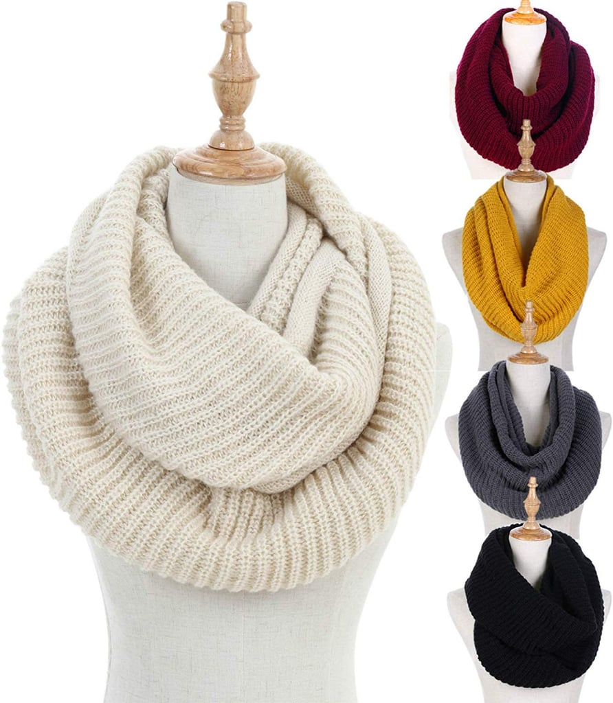 Dimore Ribbed Knit Infinity Scarf