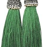 Baggis Accesorios Green Tassel Earring