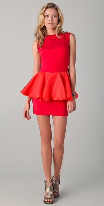 Kalmanovich Raspberry Peplum Dress ($1,030)