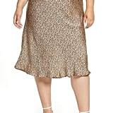 Leith Plus Size Fluid Midi Skirt