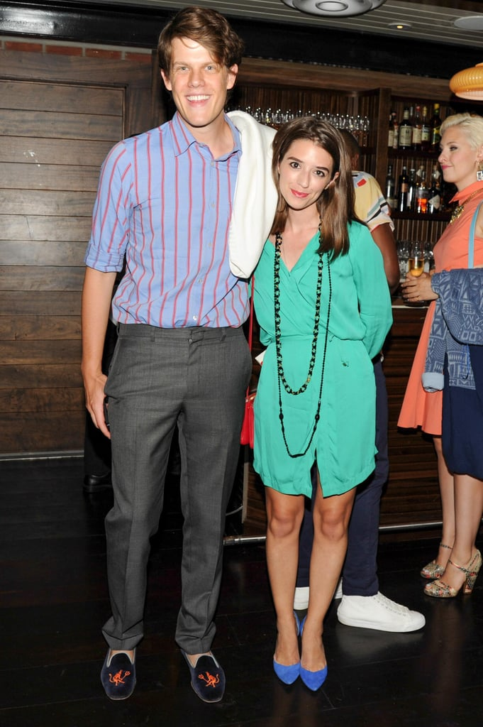 Wes Gordon and Cannon Hodge made a bright pair at Lafayette for the Lyst Universal Shopping Cart launch event.