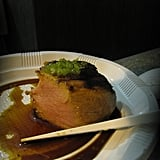 Filet Mignon With Soy Sauce and Wasabi Caviar