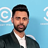 Just killing it with the eye contact, per usual. (Sidenote: can we borrow that green bomber jacket, Hasan? Very into it.)