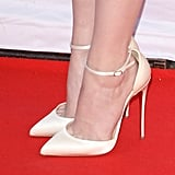 We Love How She Kept It Classic With Ankle-Strap Pumps