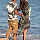 Selena Gomez and a friend had fun on the beach in Malibu.