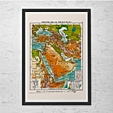 Vintage Map of the Middle East